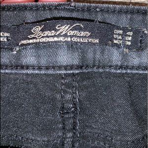 LEARA WOMAN Jeans - LEARA WOMAN PREMIUM DENIM DISTRESSED LEATHER SZ